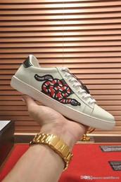 Scarpe Ace con ricamo blanc et blanc pour hommes et femmes Low Sneaker Sneakers Sneakers Chaussures ? partir de fabricateur