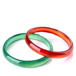 Koraba Joyería Fina Dos Sólo Moda Estrecho Tira Rojo Verde Agata Brazalete Pulsera Mano Catenaria Envío Gratis desde fabricantes
