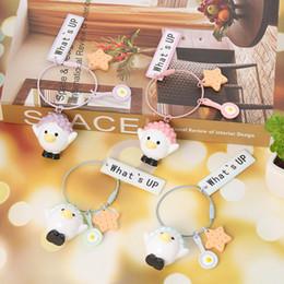 2019 valentine schlüsselanhänger Neue nette Bobo Huhn Schlüsselanhänger Frauen Spielzeug Schlüsselanhänger für Kinder Frauen Tasche Auto Schlüsselanhänger Schmuck Party Valentine Geschenk günstig valentine schlüsselanhänger