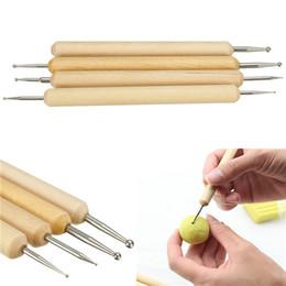 Perfekte Packung mit 4 Ball Stylus Polymer Clay Keramik Keramik Sculpting Modellierung handgemachte Werkzeuge Set von Fabrikanten