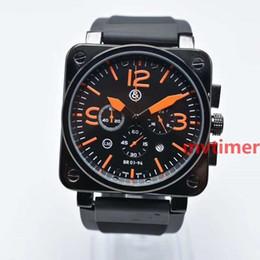 Золотой бр онлайн-Розовое золото Кварцевый хронограф Luxury Sport Black Rubber BR PVD Dive 46 мм Мужские дизайнерские часы Мужские наручные часы Reloj de lujo Watch