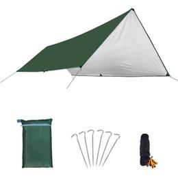 Tapis de camping en Ligne-Tapis de camping étanche 3 * 4M Matelas Tente Extérieure En Tissu Multifonction Auvent Bâches Auvent Tapis De Pique-Nique Tapis De Sol