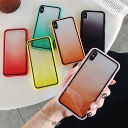 protector iphone 6s Promo Codes - For New iPhone 11 Pro XR X XS MAX Rainbow Clear TPU Soft Protector Full Package Cover Gradient Transparent Color Shockproof Phone Case