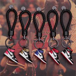 chaveiros populares Desconto Chaveiro AJ Anel Chave Acessórios Encantos Sneaker Sapatos 3D Telefone Celular Correia Lanyard Sapatos de Basquete Modelo epacket Presente Popular