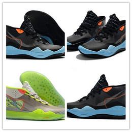 Zapatos kevin durant negro verde online-2019 Nuevo Llega Kevin Durant XII KD 12 Triple Negro Verde 12 Zapatos de Baloncesto Para Buena Calidad Zapatillas de deporte de Entrenamiento Para Hombre Tamaño 40-46
