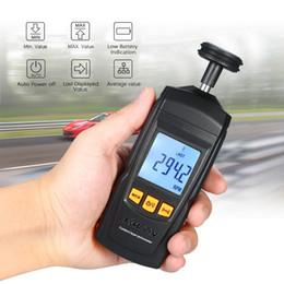 2019 velocidades de fluxo Tacômetro Digital Handheld Contato Motor Tacômetro LCD Velocímetro Tach RPM Éster Elétrica Máquina Girar Medidor de Velocidade