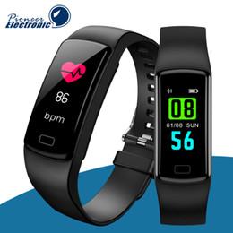 Smartphone herzfrequenz online-Y9 Smart Activity Tracker Uhrenarmband Fitness Armband Pulsmesser Blutdruck Armbänder Für Smartphone Smartband