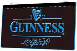 Argentina LS027-b Guinness RGB de la vendimia de sesión múltiple Color Mando a Distancia grabado 3D LED luz de neón barra de la tienda del club del Pub Suministro