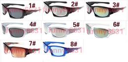 fábrica de óculos de sol da marca Desconto MOQ = 10 PCS marca Novo Preço de Fábrica óculos de sol esportes ciclismo óculos de sol para homem e mulher moda cor espelhos graffiti quadro frete grátis