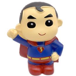 Superman jouets gratuits en Ligne-2019 Squishies Superman Superman à la hausse lente jouet de décompression doux pu parfumé Rebond lent Superman pour téléphone portable DHL Gratuit