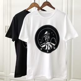 Argentina 19ss Primavera Verano Lujo Europa Paris Galaxy Astronauta Camiseta Moda Hombre Mujer Ropa Fresca Skateboard Camiseta Casual Tee Suministro