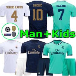 2020 Real Madrid Hazard camiseta de fútbol 2019 2020 camisetas del real madrid BENZEMA SERGIO RAMOS KROOS 19 20 camisetas de fútbol maillot real madrid desde fabricantes