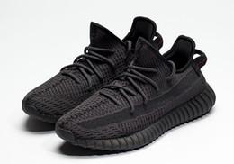 Negro blanco estático Kanye West Glow en los zapatos oscuros para las ventas Con la caja envío gratis tienda de zapatos para correr US5-US13 desde fabricantes