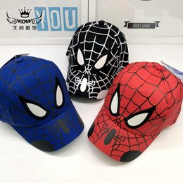 Koreanische babykappen online-Koreanische Version des neuen Kinderhutes Marvel Anime Snapback Baby Mütze Spider-Man Baseball Cap Outdoor Cartoon Sonnenhut