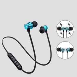 bluetooth kopfhörer mp3 Rabatt XT11 Bluetooth Kopfhörer Magnetic Wireless Running Sport Kopfhörer Headset BT 4.2 mit Mikrofon MP3 Ohrhörer Für iPhone LG Smartphones in Box
