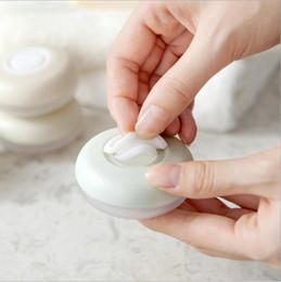 recipientes tampa rosa Desconto 4 Pçs / set Portátil Shampoo Cosméticos Loção Vazia Dispensadores Recipientes Botão Shampoo Acessórios de Viagem HK0369