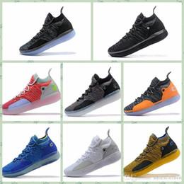 2019 zapatillas kevin durant para hombre Nike KD 11 Nuevos zapatos de diseño KD 11 zapatos al aire libre Kevin Durant 11s Zoom para hombre Ejecución del Athletic de zapatos blanco de lujo KDEP Elite Low 40-46 zapatillas kevin durant para hombre baratos