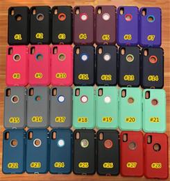 Wholesale Estuche de defensa híbrido Heavy Duty para iPhone XS MAX XR XS plus s de Wholesales con clip y estuche de paquete de venta