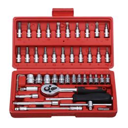 46 pcs 1/4 de polegada soquete Car Repair Tool Set Ferramentas Durable Wrench Combo Ratchet Torque Auto-Reparação de mão ajustados de Fornecedores de kits de beleza grátis