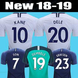 Top thailand quality KANE spurs Soccer Jersey 2018 2019 LAMELA ERIKSEN DELE  SON Jersey Kids Football kit shirt Men and KIDS KIT SET uniform 51bd04c44