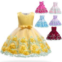 vestidos de dama de la ropa de las niñas Rebajas Kids Tutu Birthday Princess vestido de fiesta para niñas de encaje infantil vestido de dama de honor elegante para niña bebé niñas ropa
