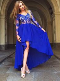 vestiti da partito lungo manica uk Sconti abito da sera corto sexy blu royal plus size abito da cerimonia abito da sera manica lunga arabo dubai arabo musulmano lungo 2019