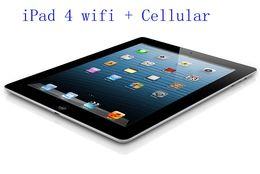"Tabelle di porcellana 32gb online-100% originale ricondizionato Apple iPad 4 cellulare 16 GB 32 GB 64 GB Wifi + 3G iPad4 Tablet PC 9.7 ""IOS rinnovato Tablet Cina all'ingrosso DHL"