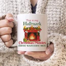 2020 tazas de peliculas Navidad cerámica de la taza 350ml 14 Estilos del sello de la letra impresa Películas de Navidad Coffee Kids Copas LJJO7356-7 tazas de peliculas baratos