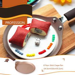 poêles à frire en acier Promotion Poêles en cuivre Poêle à frire antiadhésive en acier au carbone antiadhésif en forme de casserole de poêles à frire de poêles à frire œufs au plat de petit déjeuner Cuisson batterie de cuisine 6 pouces CLS568