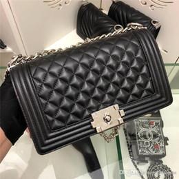 kanäle taschen schulter Rabatt Designer Luxus-Handtaschen Geldbörsen Kanal Flap Bag Chevron Kalbsleder Old Medium Hardware Handtasche A67086 Umhängetasche-Geldbeutelgröße: 25 * 15 * 10cm