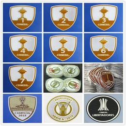 Emblemas de remendo futebol on-line-2019 2020 Brasileiro Serie A Campeonato Patch Emblema Copa América Libertadores 1 2 3 4 5 6 7 Conmebol Campeon 2016 2017 2018 Soccer Patches