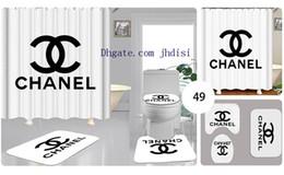 Neue vorhänge muster online-Simple White X Brief Vorhang Anti-Rutsch-Teppich Sets New Style Bad Shade Toiletten-Abdeckung 2020 Luxus-Muster-Badezimmer Dekoration