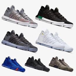 0ef32473416 2019 Zoom KD 10 Anniversary PE BHM Red Oreo triple black Men Basketball  Shoes KD 10 Elite Low Kevin Durant Athletic Sport Sneakers