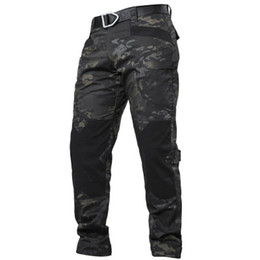 swat pants Promotion IX6 Ville tactique Cargo Pants Men Combat SWAT armée Pantalon en coton stretch beaucoup de poches souples Homme Casual Pantalons XXXL