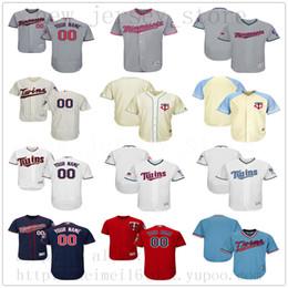 Jeans de costura blanca online-Custom MinnesotaTwins 2019 New Men Womens Youth Jeans Blanco Azul Gris Rojo Cosido cualquier nombre Cualquier número Jersey