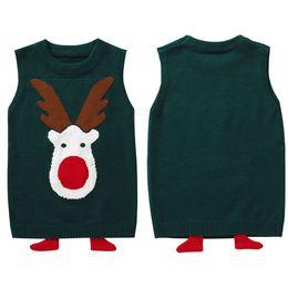 2019 muchachos del chaleco de navidad Niños Chaleco de punto para niños 2-9Y Suéteres Niños Niñas Chaleco Otoño Invierno Ropa para niños Tops para niños rebajas muchachos del chaleco de navidad