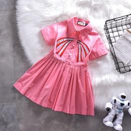 Principessa gonne occidentale online-Le ragazze vestono Summer Fashion Stile europeo e americano Indumento Bambini Western Style Pure Cotton Baby Princess designer lusso Gonna 0606