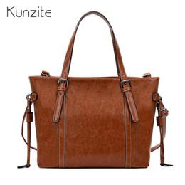 Кожаные сумочки из кожи онлайн-Women Leather Handbags Big Women Bag High Quality Casual Female Bags Design Tote Spanish  Shoulder Bag Ladies Handbags Sac