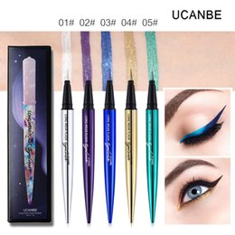 matita di occhio rosa Sconti UCANBE Shimmer Flash Liquid Eyeliner Matita Trucco Long Lasting Quick Dry Glitter Eyeliner Pen Impermeabile Colorful Smooth Eye Cosmetic Set