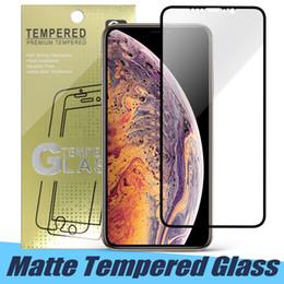 Blendschutzfolie online-Matt gehärtetes glas für iphone 11 pro x xr xs max anti glare voller kleber gebogener schutz displayschutzfolie für iphone 7 8 plus