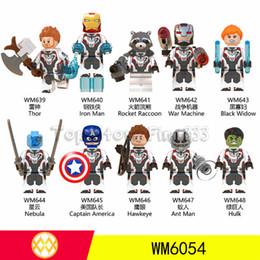 Giocattolo della nave di mattoni online-WM6054 DHL LIBERA il trasporto Marvel Quantum Avengers 4 Nuova versione di Iron Man Minifig Building Blocks Giocattoli Bambini Migliori Mattoni ABS