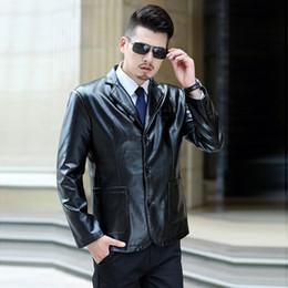 männer namen marke jacken Rabatt Europäischen Stil Mode Herren Lederjacke 7XL Mäntel Name Marke Lederjacke Männer Plus Größe 6XL 7XL Streetwear Frühling A617