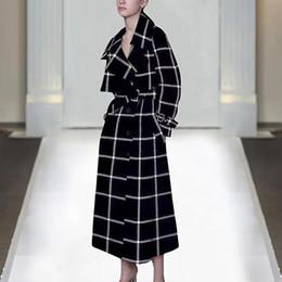 vestidos de lã de trabalho de lã Desconto 1127-1115 Q 2019 Spring Fashion Designer Runway Jacket Brasão vestidos das senhoras Mulheres manga comprida V-Neck Belt manta Decoração Cashmere
