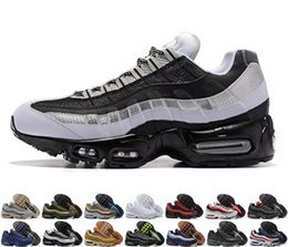 946a4655e4a0a0 Discount max shoes - 2019 new Air men casual Running shoes 95 black gold  red 95s