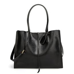 Diseñador grandes bolsos negro online-Brand PU Leather Handbag Women Fashion Big Shoulder Bag Ladies Designer Handbags Black Crossbody Bag Casual Tote