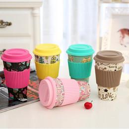 Toptan 30 adet Yenilik Bambu Elyaf Tozu Kupalar Kahve Kupaları Süt Içme Fincan Seyahat Hediye Çevre Dostu nereden