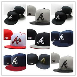 Atlanta coraggiosi cappelli online-Alta qualità Atlanta New Er Road Braves Authentic Collection On-Field Low Profile Designer 59FIFTY Cappello aderente
