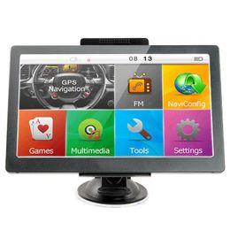 camiones gps Rebajas 7 pulgadas coche GPS navegación camión pantalla táctil bluetooth AVIN coche GPS WinCE MP4 FM transmisor DDR256MB 8GB mapa 3D EEA34