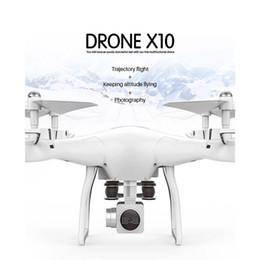 2019 rc беспилотный бесконтактный квадроцикл LeadingStar X10 RC Drone 2.4Ghz Quadcopter камера WIFI FPV Режим Безголовый Высота Держите Drop Shipping VS X5 SW-1 zk30 дешево rc беспилотный бесконтактный квадроцикл