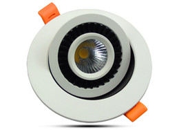 замороженный хрусталь Скидка COB 3W 5w Dimmable привело встраиваемый точечный свет 360 градусов Вращающийся светодиодные светильники AC85-265V потолочное освещение для внутренней отделки